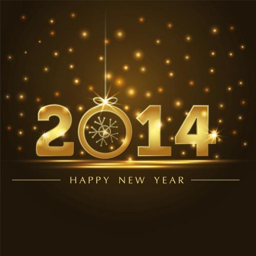 Golden-Sky-Happy-New-Year-2014-HD-Wallpapers